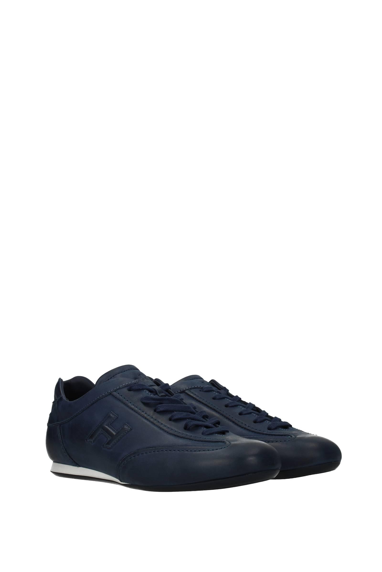 Hogan Sneakers olympia Uomo Pelle Blu Blu Galassia