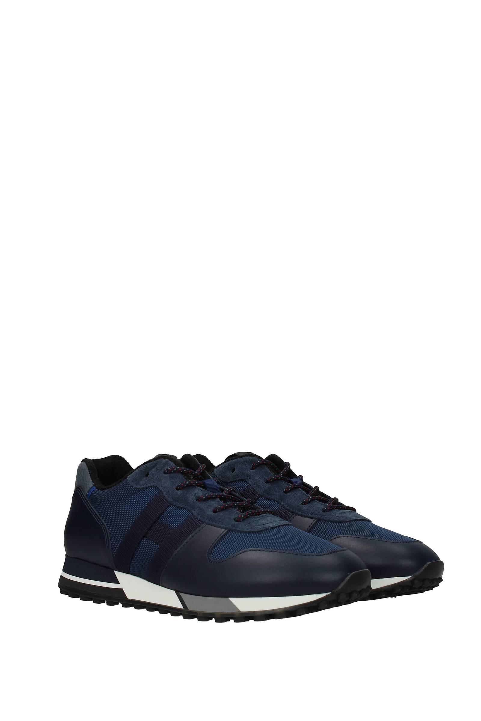 Hogan Sneakers Uomo Tessuto Blu Blu Navy