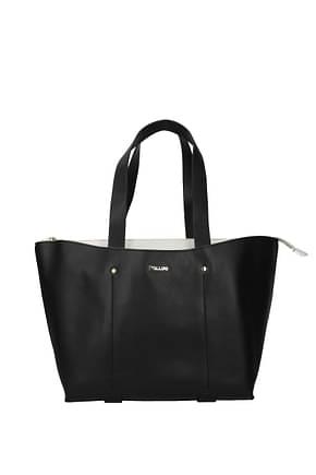 Pollini Shoulder bags Women Polyurethane Black White