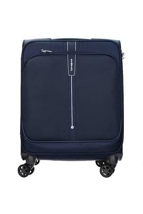 Samsonite Wheeled Luggages popsoda 40l Men Polyester Blue Dark Blue