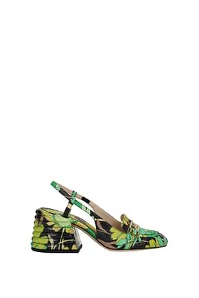 Fendi Sandals Women Fabric  Multicolor