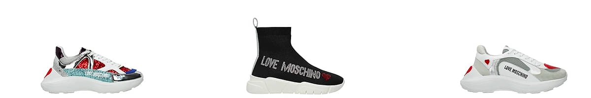 i love moschino sneakers