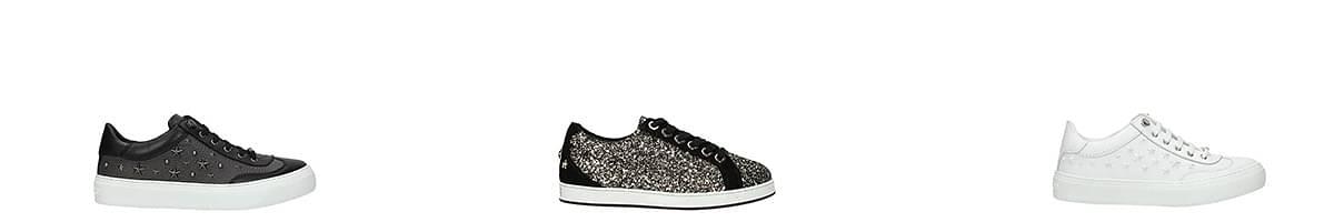 jimmy choo glitter sneakers