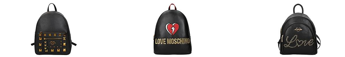 love moschino leather backpack