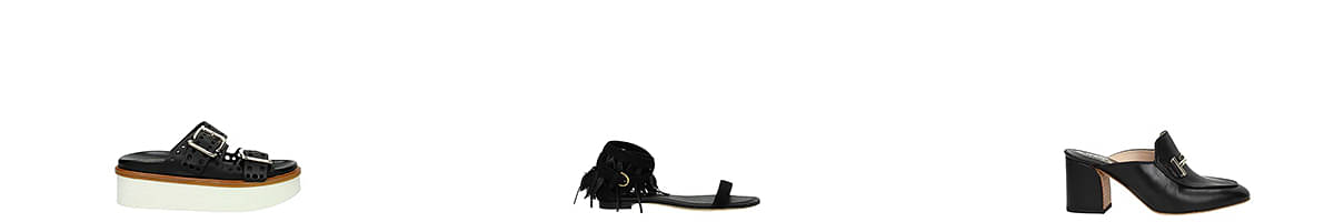 tods leather sandals
